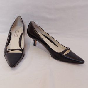 Nordstrom Black Leather Kitten Heel- Sz. 6.5